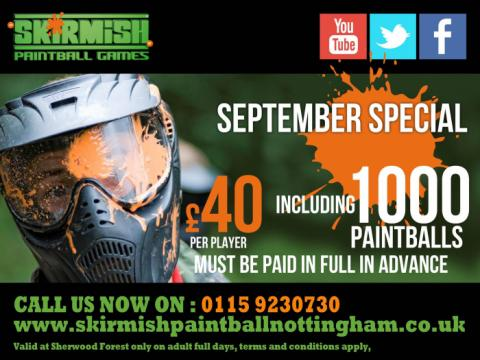 nottingham paintballing