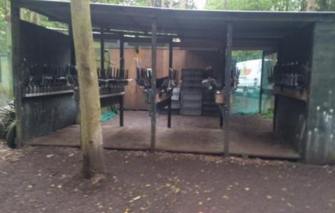 Gun Racks At Skirmish Paintball Ipswich in Suffolk