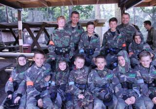 birthday paintball party